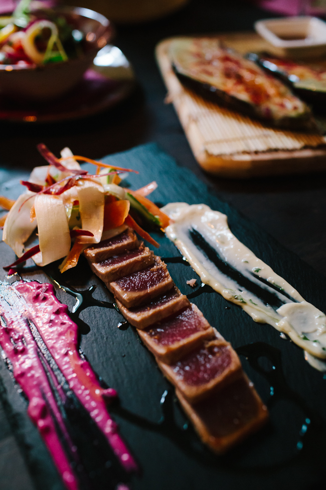 Feliu restaurant red tuna tataki