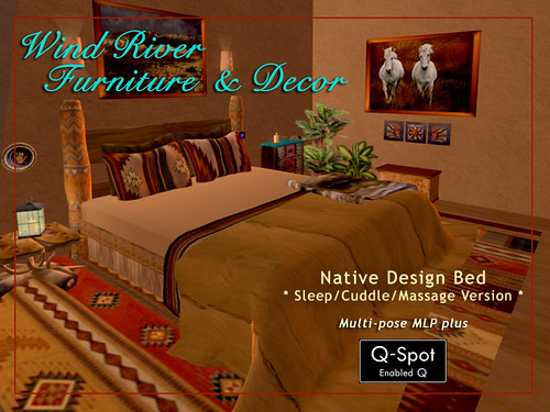 Native Design Bed by Teal Freenote