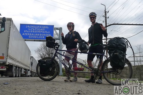 Azerbaijan border on our tandem bicycle. Good luck!