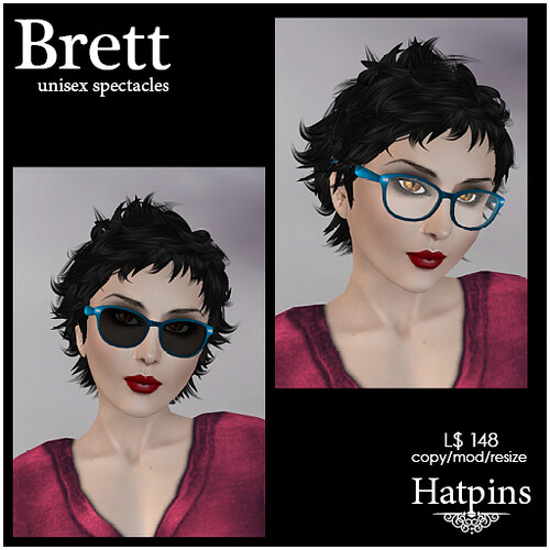 Hatpins - Brett Spectacles and Sunglasses