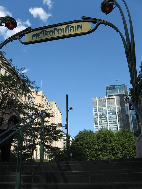 Exiting the Metro