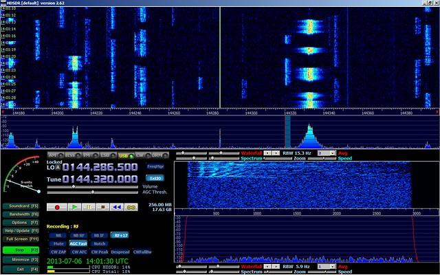 HDSDR + RTL-dongle