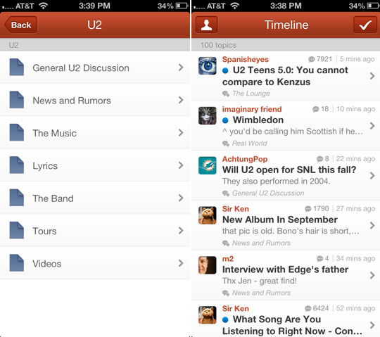 U2 Forum Now Available on Smartphones, Tablets via Tapatalk