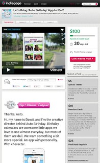 Let's Bring 'Auto Birthday' App to iPad!