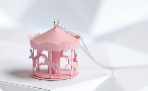 Carousel Paper Necklace
