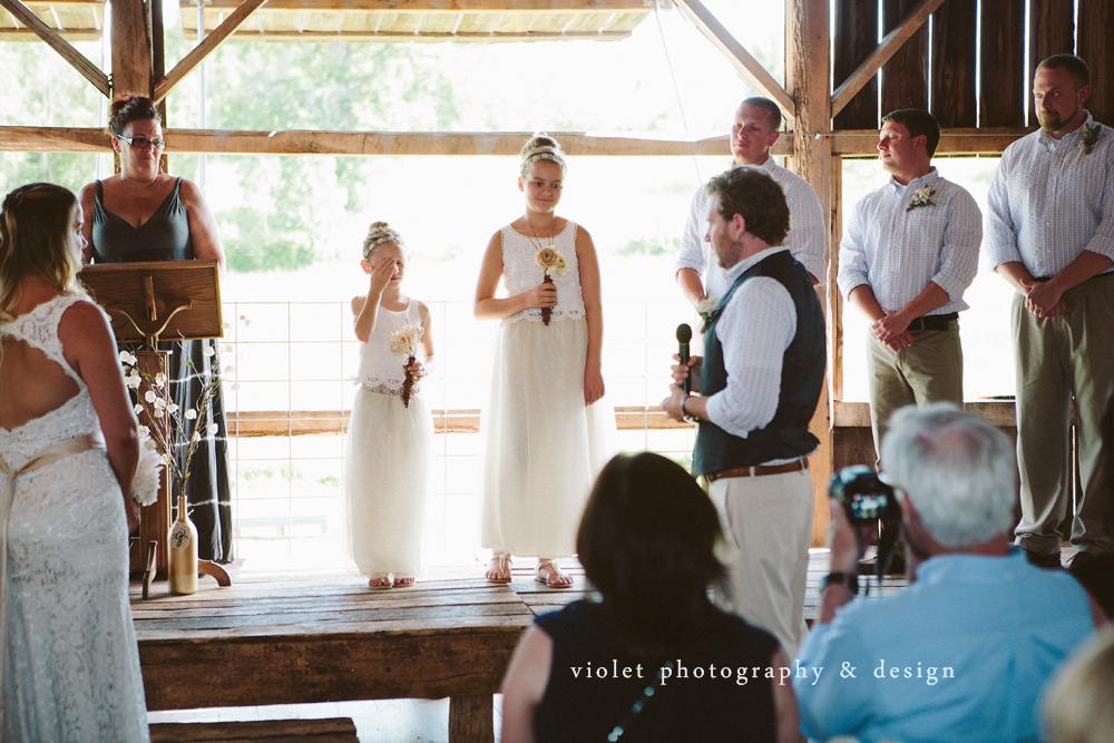 vows to children on wedding day