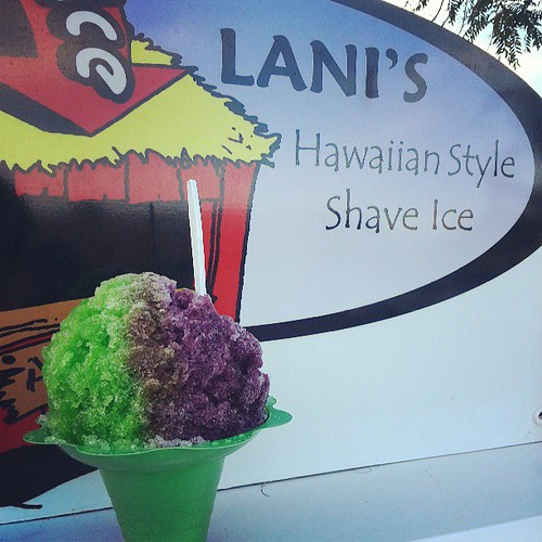First shaved ice of the summer.   It was good but no shavy Jones.