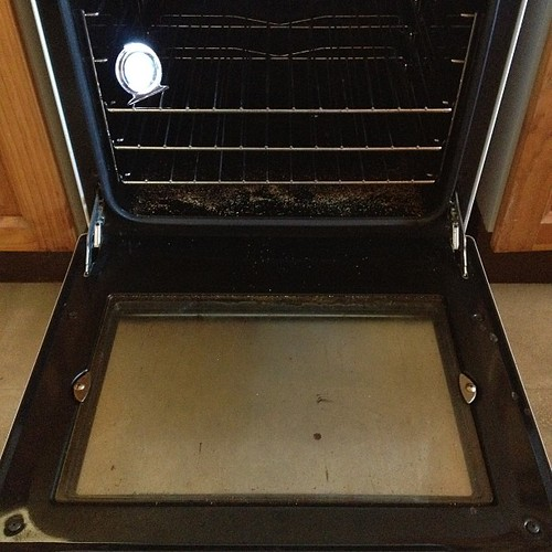 Oven before cleaning