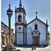 Pelourinho e Igreja de S. Pedro, em Trancoso.