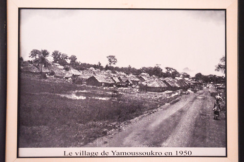 Yamoussoukro village in 1950