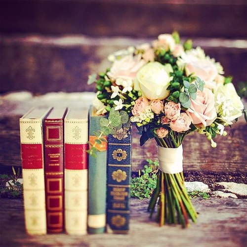books flowers