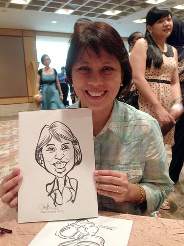 caricature live sketching for Standard Chartered Bank Long Service Award 2013