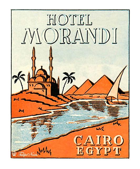 Luggage Label of MORANDI Hotel in Cairo