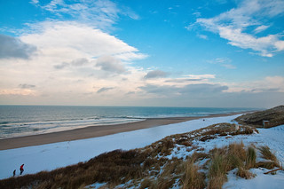 Snow on the beach - TheHague