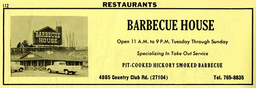 1970 winstonsalem countryclubroad barbecuehouse littlerichardsbarbecue