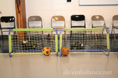 School Halloween Party: Kick a Pumpkin into a Net
