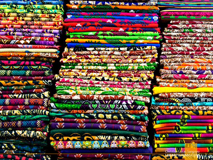 Colorful Textiles in Marawi City Market