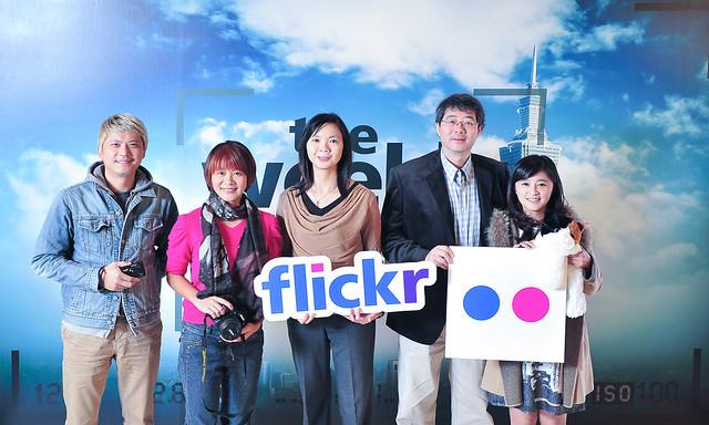 首波The Weekly Flickr大攝影家:工頭堅、Jenny、Joann、齊柏林及貓博士夫人,用3分鐘分享10年攝影精華(由左至右) (照片由Flickr提供)