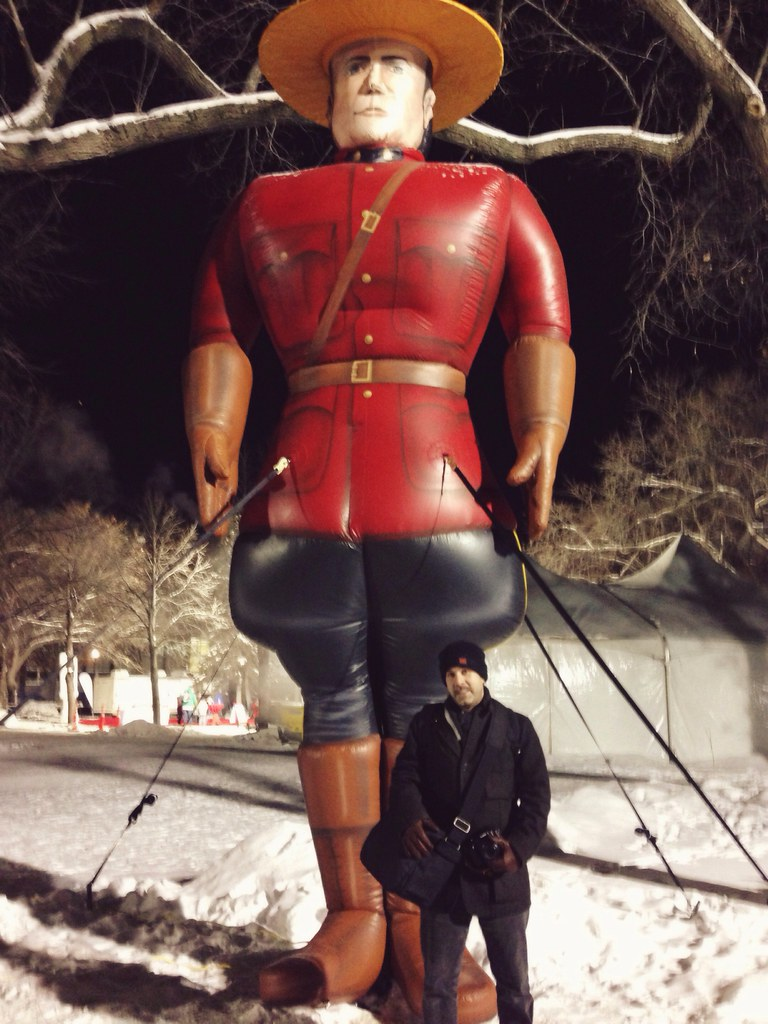 giant, inflatable Mountie