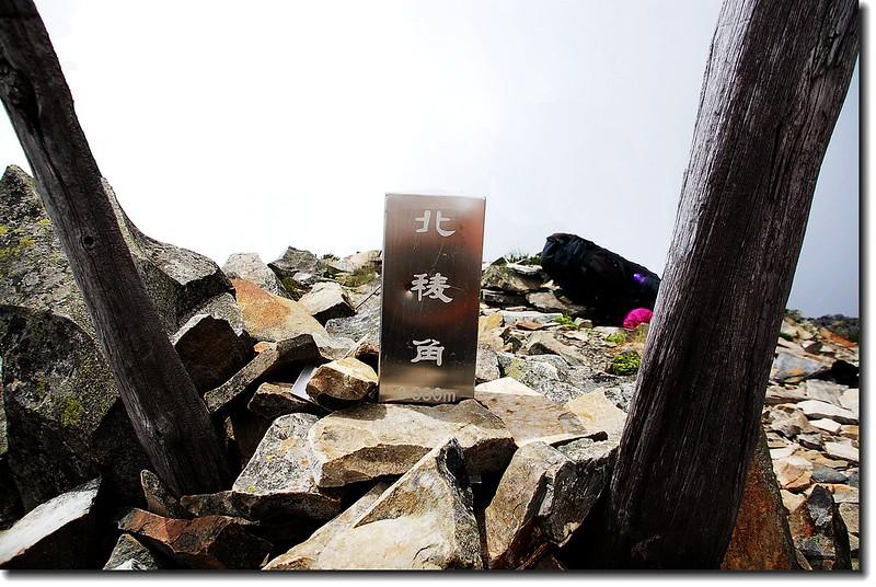 北稜角不鏽鋼標柱(Elev.  3880  m)