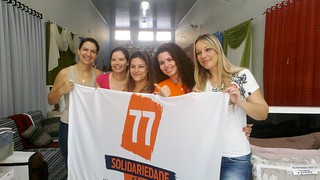 Alliny Sartori, presidente municipal, reúne futuras filiadas do Solidariedade em Ibitinga (SP)