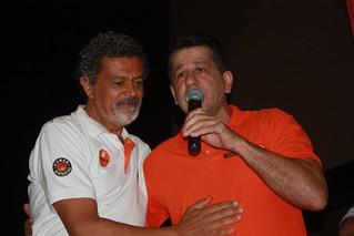Durante sua fala, David Martins apresenta a proposta para a candidatura de Cláudio Prado a deputado estadual pelo Solidariedade nas eleições de 2014...