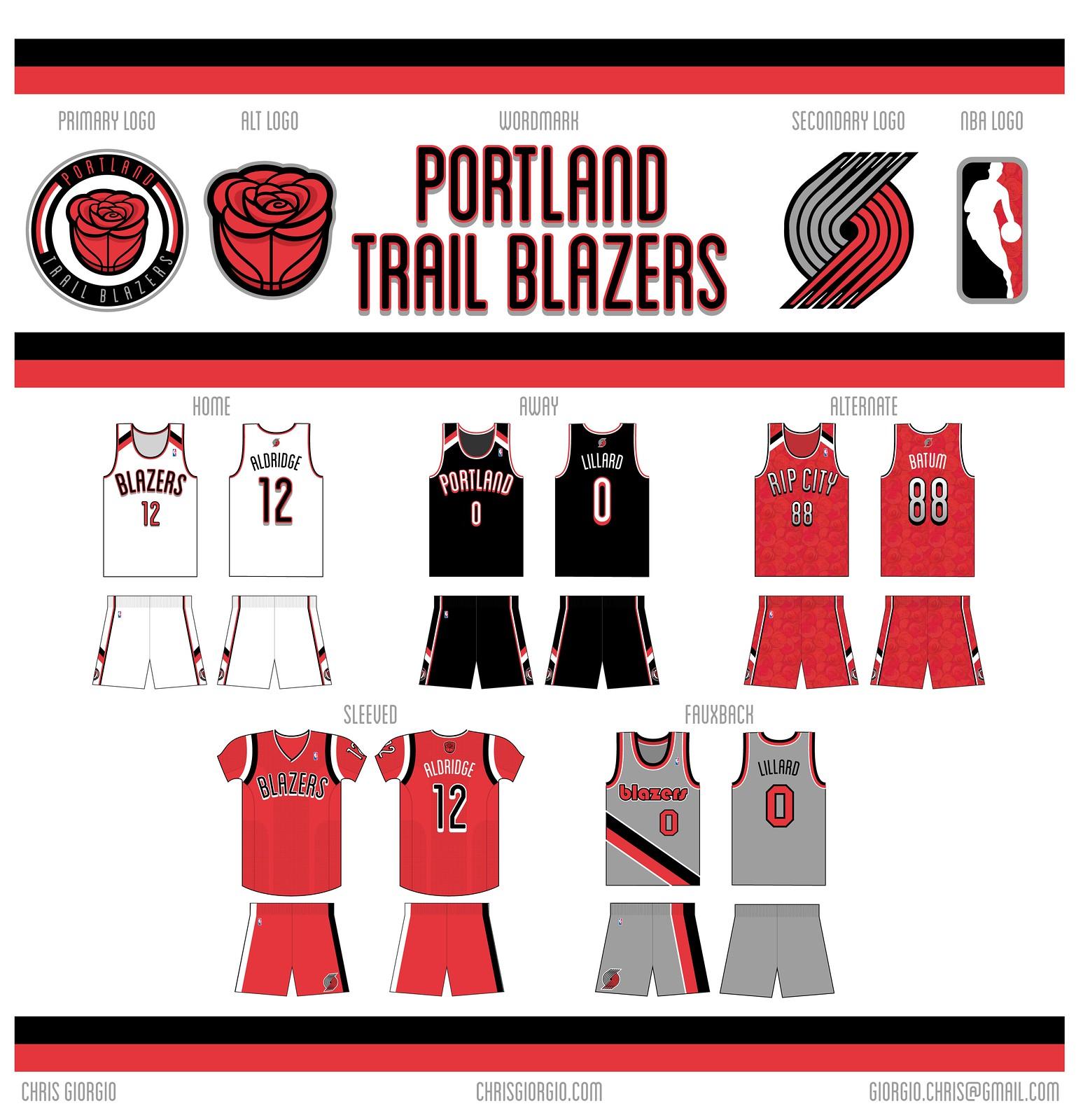 Portland Trail Blazers New Uniforms