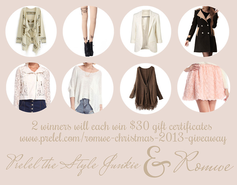 Romwe Christmas December 2013 giveaway