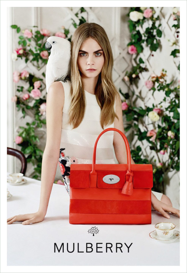 Daisybutter - UK Style and Fashion Blog: Mulberry SS14 campaign, Cara Delevingne