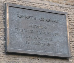Photo of Kenneth Grahame black plaque