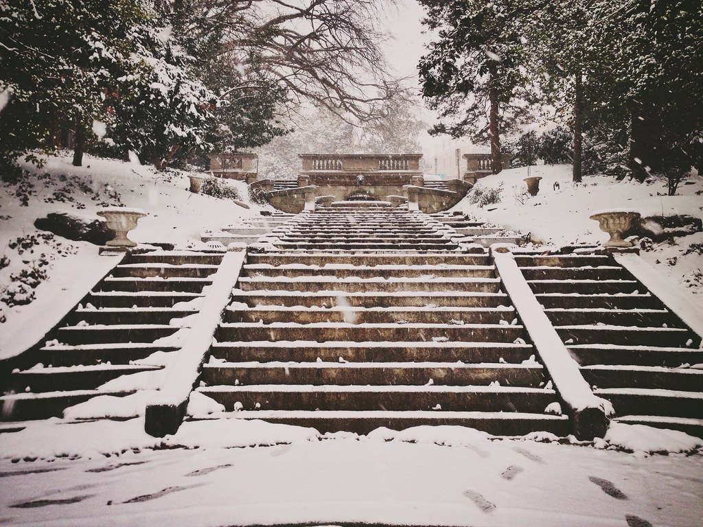 Spanish Steps in the snow