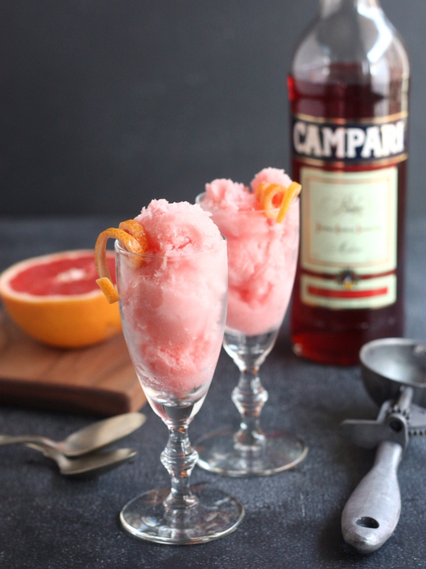 Grapefruit-Campari Granita With Vanilla Whipped Cream Recipe ...