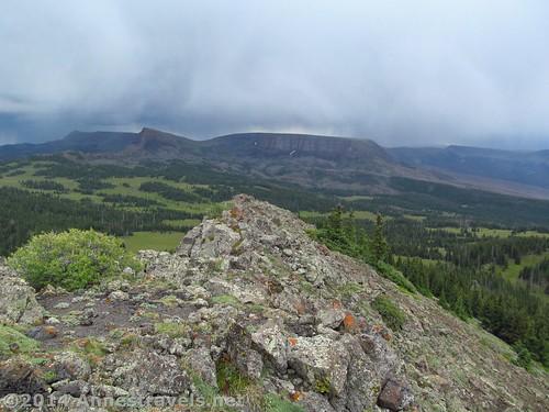 Views across Pyramid Peak, Flat Tops Wilderness, Colorado