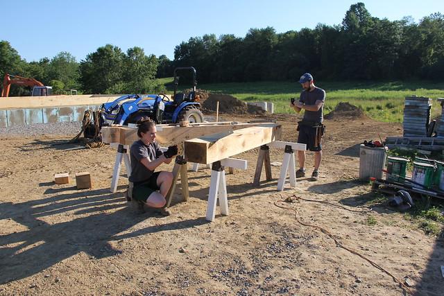 timber frame - squaring