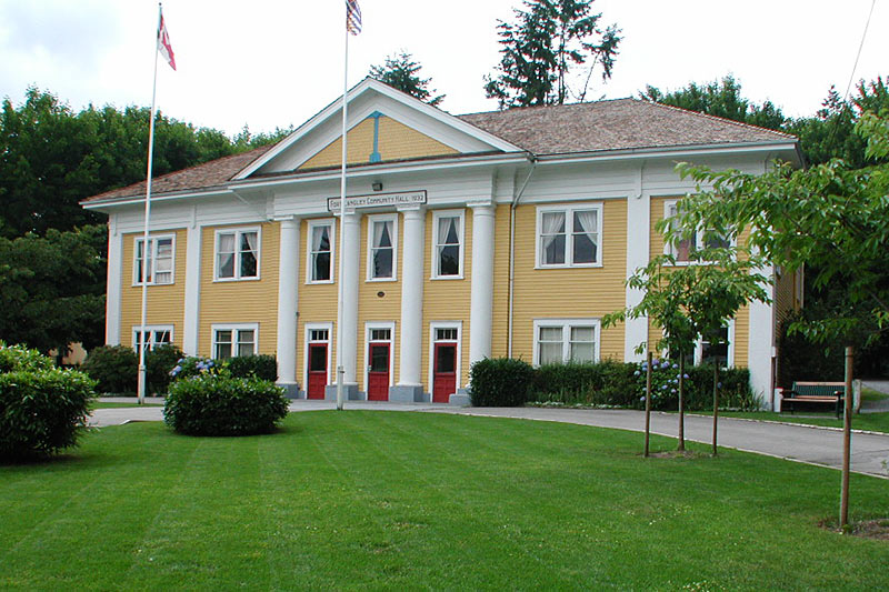 Municipal Hall, Fort Langley, Fraser Valley, British Columbia, Canada