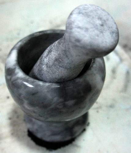 mortar pestle charcoal