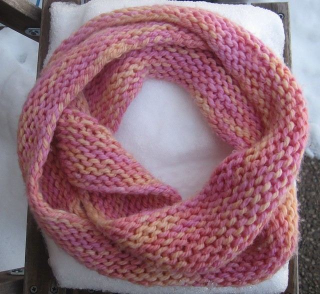 Knitting Pattern For Scarf In The Round : Infinity Scarf Pattern Knit in The Round images