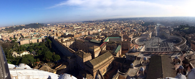 Panorama from the top of St. Peter's Basilica