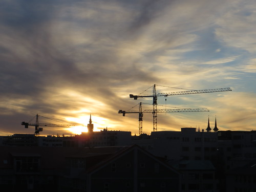 sunrise over reykjavik