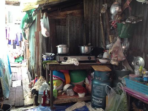 Waste plant slum