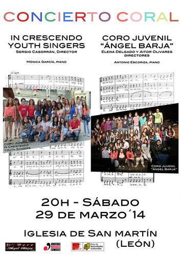"""CONCIERTO CORAL - IN CRESCENDO YOUTH SINGERS & CORO JUVENIL """"ÁNGEL BARJA"""" - SÁBADO 29 MARZO´14 by juanluisgx"""