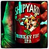 Shipyard Monkey Fist IPA. At the gay wedding bachelor party, this beer got a lot of laughs.