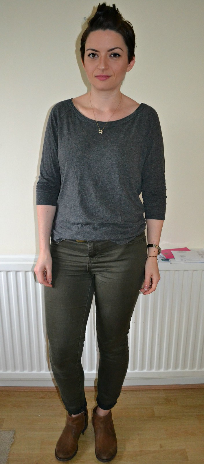 slouch grey top
