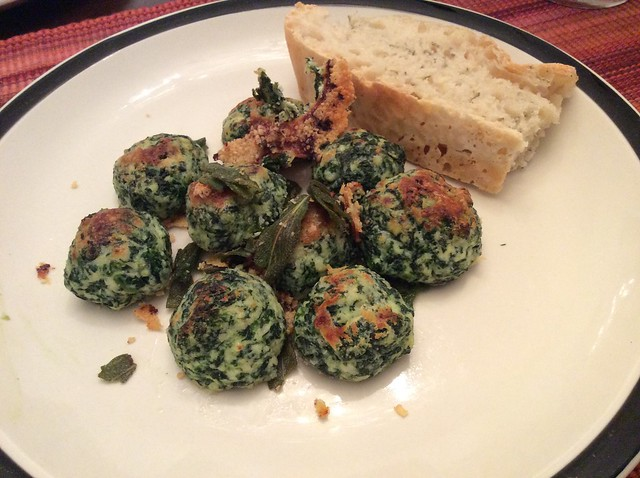 Spinach Gnocchi Balls