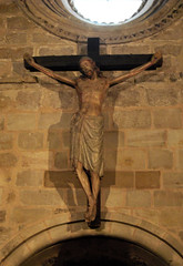 carving, art, symbol, temple, wood, sculpture, religion, crucifix, cross, statue,