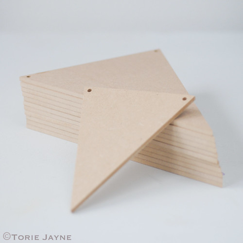 MDF bunting shapes