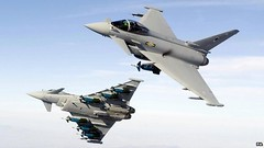 Fighter jets were scrambled after two Russian military aircraft were spotted approaching UK airspace, the Ministry of Defence (MoD) has said. Royal Air Force Typhoon fighter jets took off from RAF Leuchars in St Andrews, Fife, on Wednesday. The jets were sent to investigate the Russian planes,...   ...