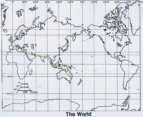 Route to Australia - Qantas Kangaroo