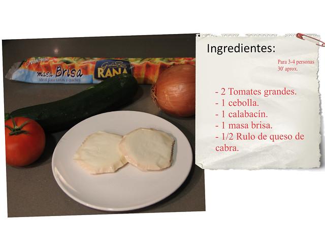 Coca de verduras y queso de cabra