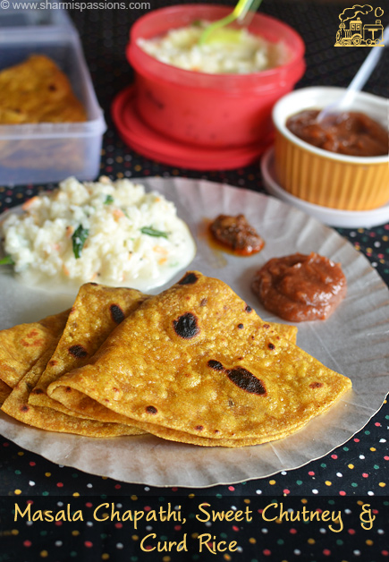 Masala Chapathi and Sweet Chutney